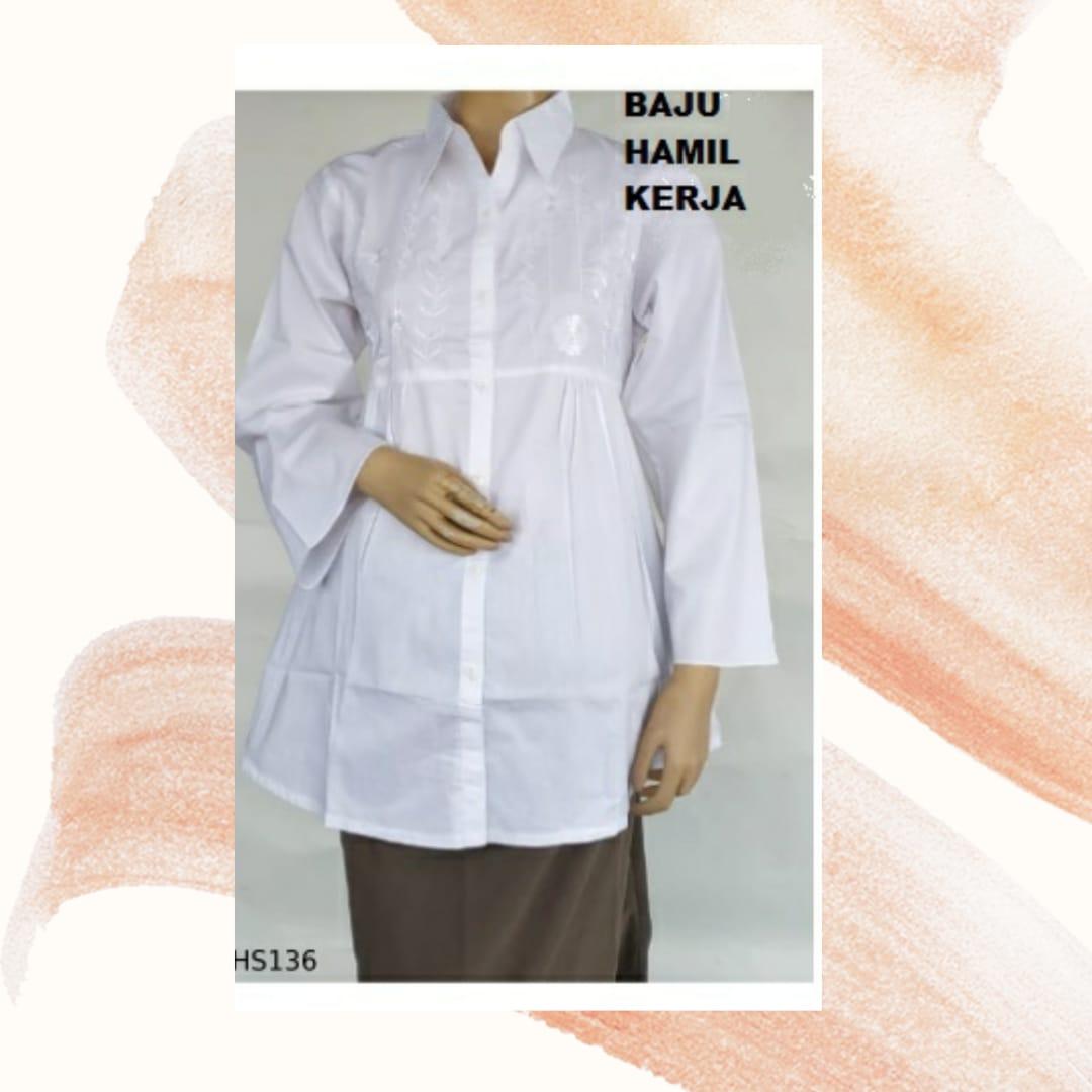 baju hamil kerja putih 2